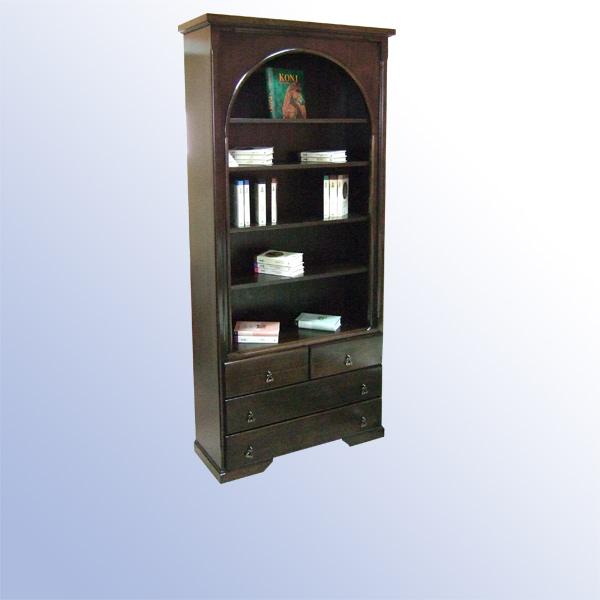 Dimenzije biblioteke: visina - 208cm, širina - 95cm, dubina - 36cm.   Proizvod je u kombinaciji punog drveta (fronte), bočno pločasti materijali tonirani određenom bojom.   Besplatna isporuka i montaža na teritoriji Beograda.