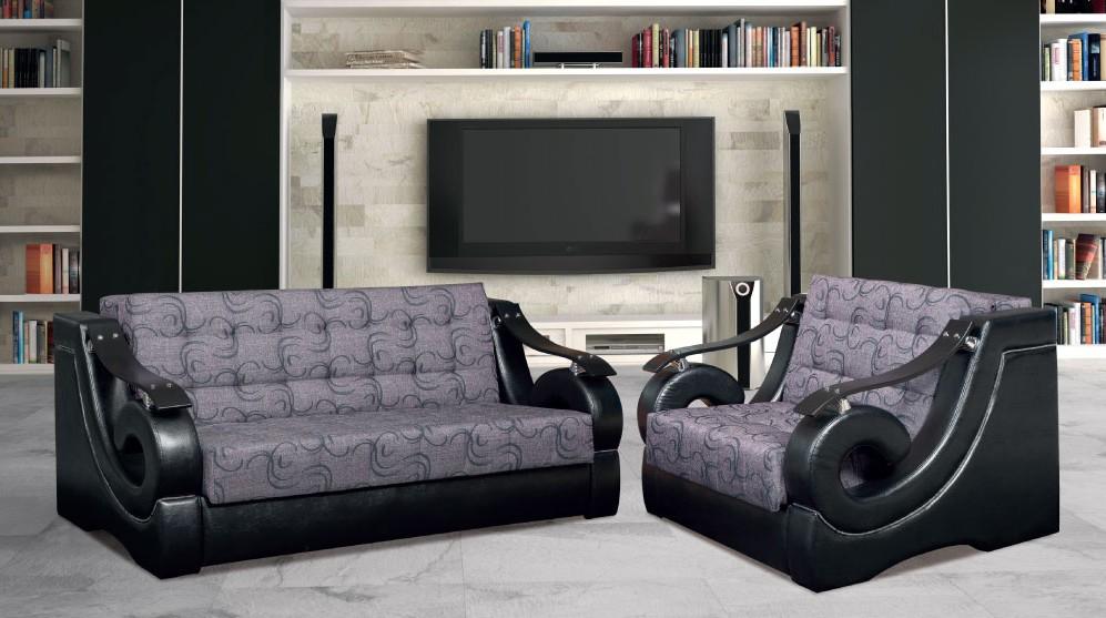 Garnitura Mojca Lux. Dim.troseda: 195x115cm, dim.dvoseda: 155x115cm, dim.fotelje: 125x115cm. I trosed i dvosed i fotelja imaju mogućnost razvlačenja. Veliki izbor boja i dezena štofa. Cena troseda: 41.700,00 - 44.100,00, cena dvoseda: 37.700,00 - 39.500,00, cena fotelje: 31.100,00 - 32.900,00. Cene se razlikuju zbog izbora mebl štofa ili eko kože.