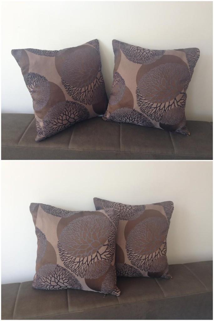 Komplet 2 dekorativna jastuka.    Dimenzije 40x40cm.    Punjeni pahuljama sundjera.    Svaka navlaka ima rajsferslus tako da moze da se skida i pere.    Veoma kvalitetni i jaki materijali koji se koriste za tapaciranje nameštaja.