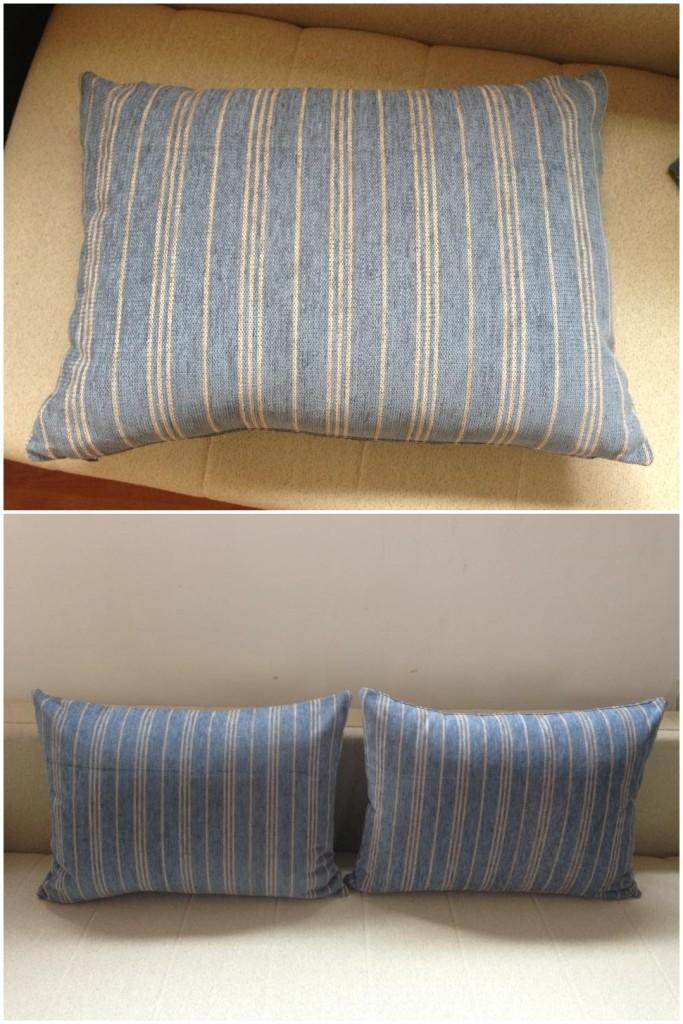 NOVO! Dva jastuka za dvosed.  Punjeni pahuljama sunđera.  Dimenzije: 70 x 52 cm.   Svaka navlaka ima rajsferšlus tako da može da se skida i pere.  Izrađeni su od veoma jakih i kvalitetnih mebl štofova koji se koriste za tapaciranje nameštaja.