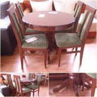 Trpezarijski sto i stolice Fi94. Dimenzije stola 94cm, mogućnost razvlačenja za još 40cm.